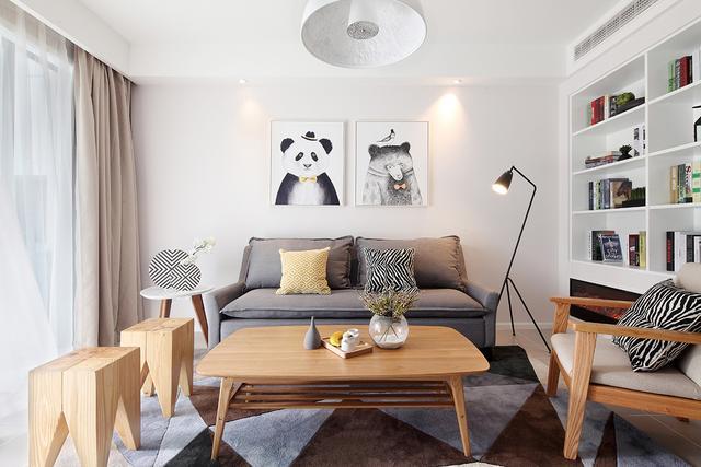 北欧装修风格卧室实景图