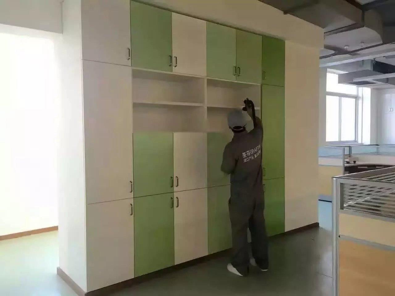 立豐集團柜子噴涂重點施工